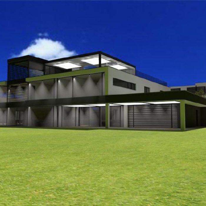 Bau Architektur Villa mit Seeanstoss Zuerichsee Sager Partner 2