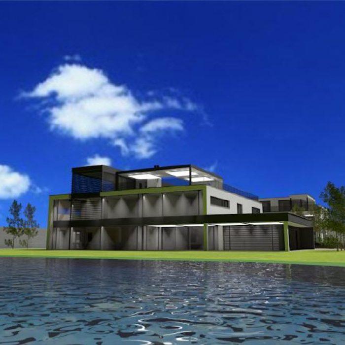 Bau Architektur Villa mit Seeanstoss Zuerichsee Sager Partner 7