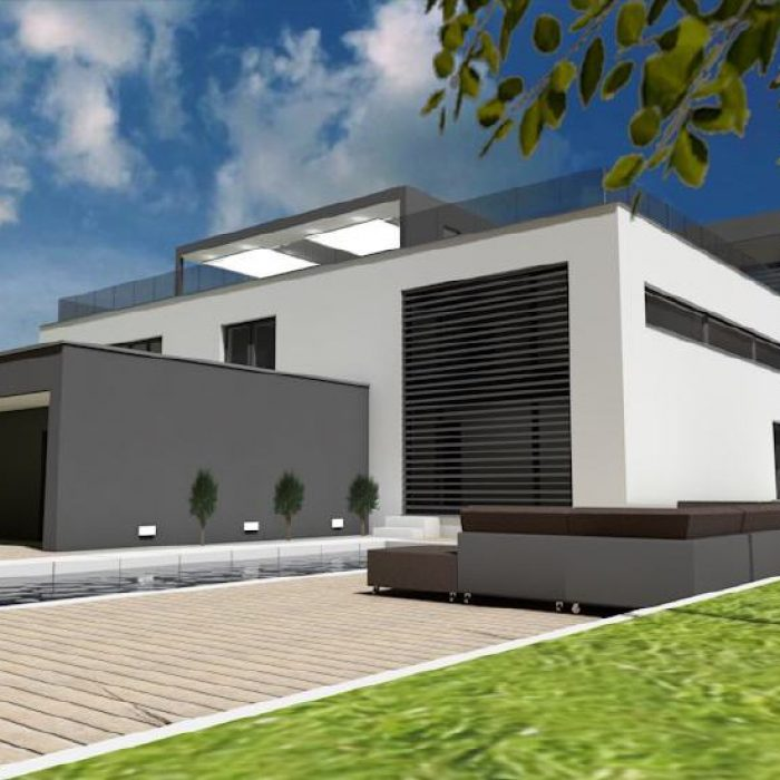 Bau Architektur Villa mit Seeanstoss Zuerichsee Sager Partner 9