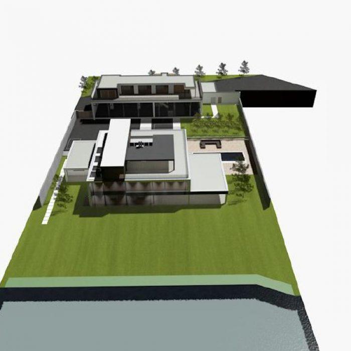 Bau Architektur Villa mit Seeanstoss Zuerichsee Sager Partner