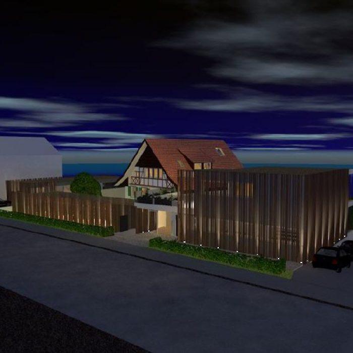 sager partner architekten neubau buerohaus mit dachwohnung 4