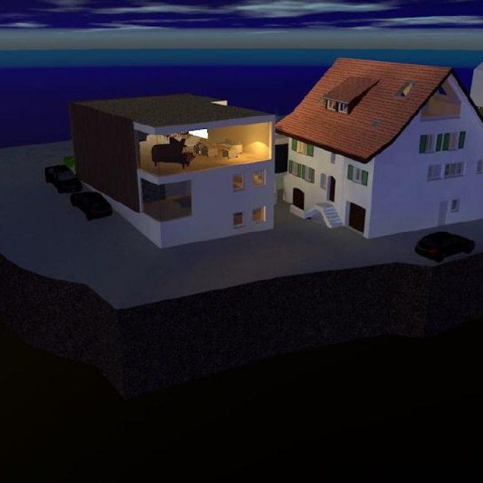 sager partner architekten neubau buerohaus mit dachwohnung 5