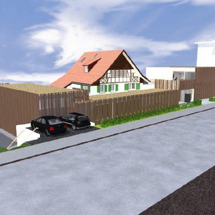 sager partner architekten neubau buerohaus mit dachwohnung