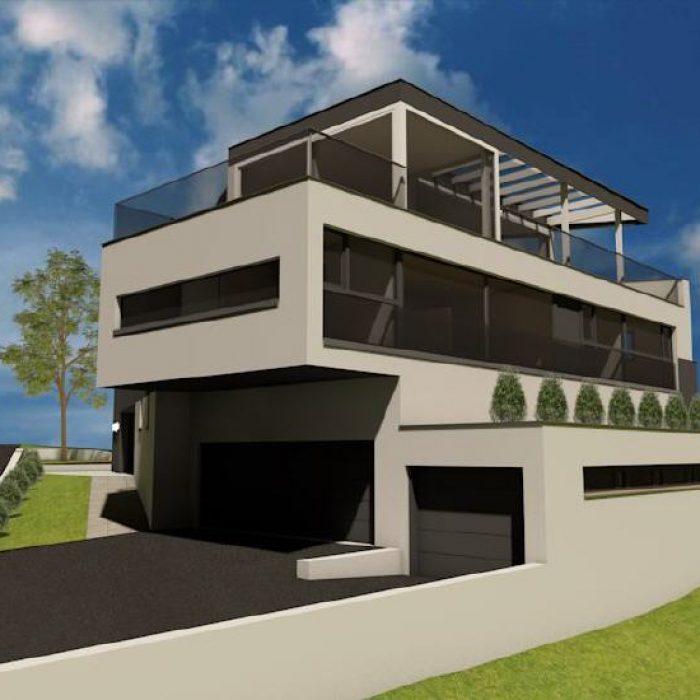 villa triangulum mit pool sager partner architektur